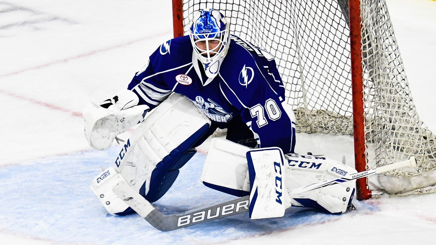 tampa bay lightning reassign goaltender louis domingue to syracuse