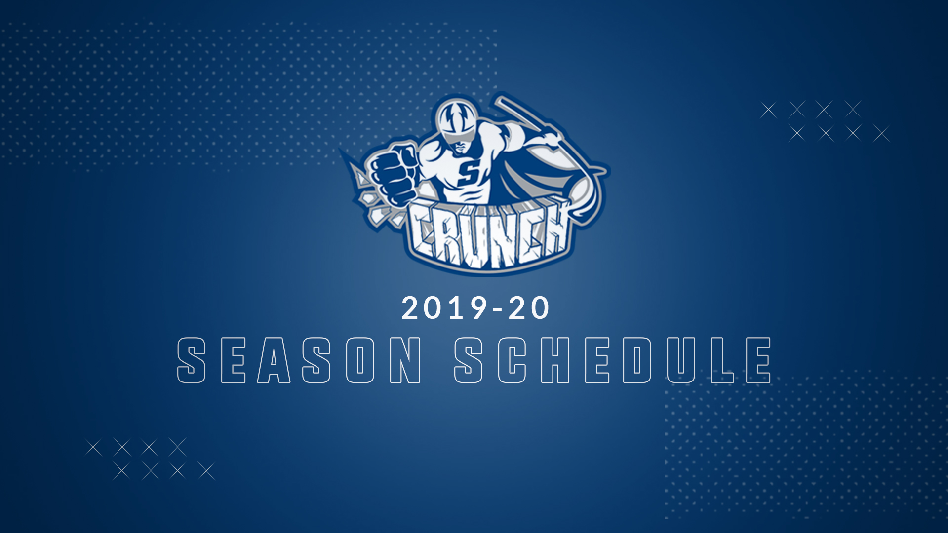 picture about Tampa Bay Lightning Printable Schedule called Syracuse Crunch Announce 2019-20 Regular monthly Time Agenda